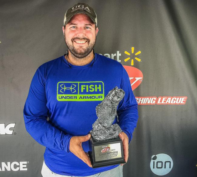 Co-angler Justin Kimmel of Monroe, Ga., won the May 9 Music City Division event on Center Hill with a 16-pound, 1-ounce limit to earn over $1,300.