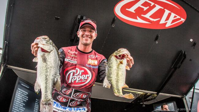 At Saturday's weigh-in, Jeff Gustafson talked about the great fishing back home in Ontario, but bass like these are making him fond of  Alabama lakes as well.