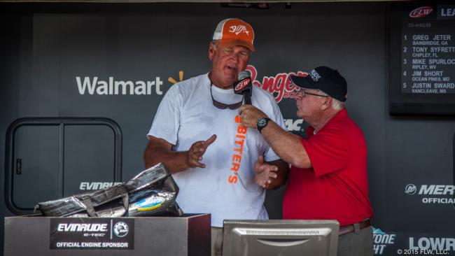 John Bitter finished eighth and has oodles of experience on Lake Seminole. He laid out his approach on the final day for the crowd at weigh-in.