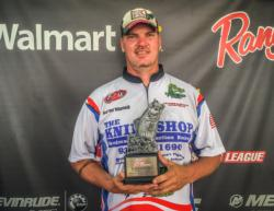 Percy Richardson of Lufkin, Texas, weighed in five bass totaling 15 pounds, 12 ounces to win $2,157 in the co-angler division.