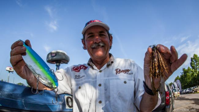 Veteran Kentucky Lake stick Billy Schroeder locked up third place with a 3/4-ounce green pumpkin jig and a Nichols Lures Magnum Spoon. He added extra hooks to the Magnum Spoon.