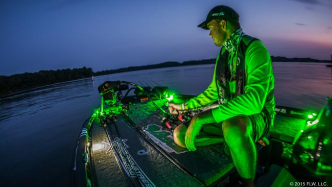 Avena doesn't subscribe to the Andy Morgan school of rod management. He loads his deck with all the variety he can to start the day and even made a few extra changes throughout the day.