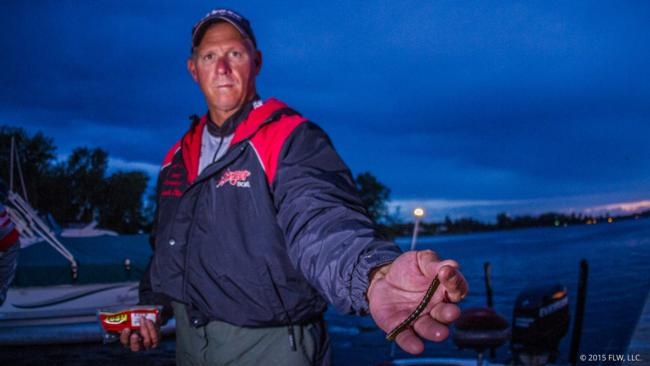 7. Derick Olson used a heavy drop-shot rig with a green pumpkin Zoom Centipede on the south end of Champlain to catch his largemouths.