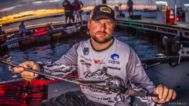 5. Brock Mosley wandered up to Champlain from Mississippi and targeted smallmouths with the new Bagley Knocker B, a walking topwater bait. He also added a few fish on a drop-shot and jig.