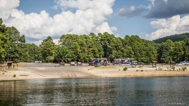 The 19th Forrest Wood Cup will take off right here at Brady Mountain Marina on Lake Ouachita on Thursday where 50 pro and 50 co-anglers will fish in the biggest tournament of their lives.