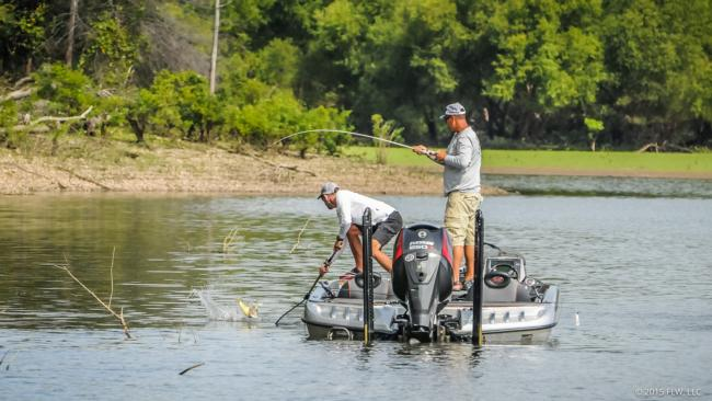 Chris Baumgardner has caught more than 12 pounds both days of the qualifying round.