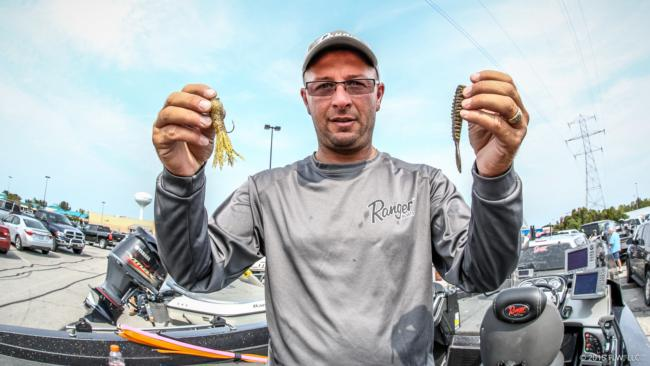 9. Michael Sitko's main bait was a Poor Boy Erie Darter on a drop-shot, with a tube as his follow-up bait.