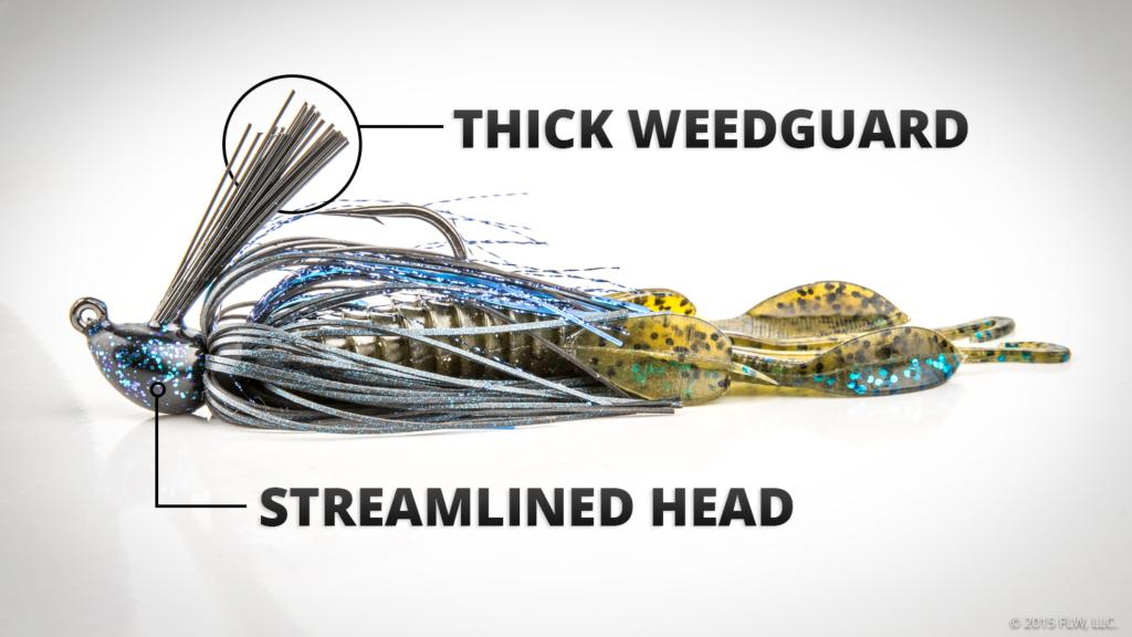 Bass fishing 101 choose the right jig flw fishing articles for Jig fishing techniques