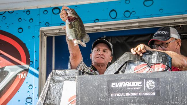 Jim Hawkes weighed 59-15 and earned the second top 10 of his FLW career.
