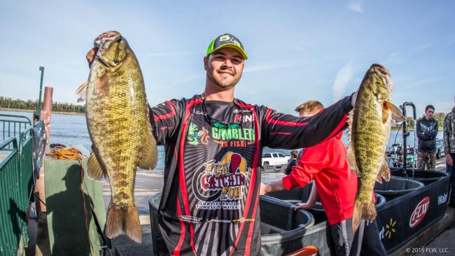 Tyler Suddarth has improved slightly each day and is in the hunt and in fourth place.