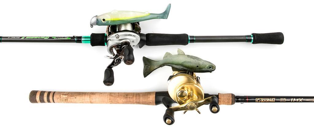Fishing 101 soft plastic swimbaits flw fishing articles for Hammer fishing rods