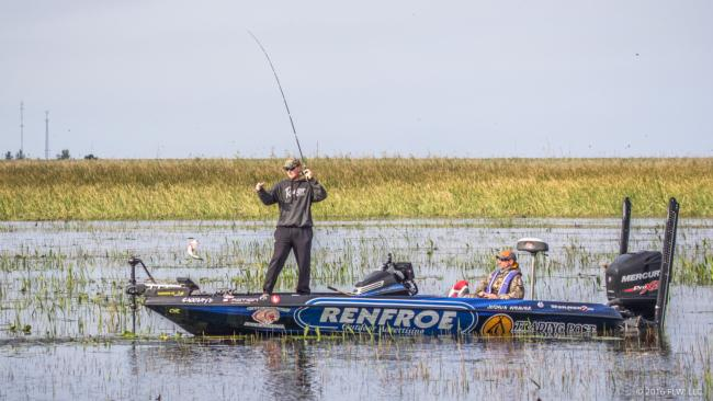This keeper will be a solid start for FLW Tour rookie Josh Weaver.