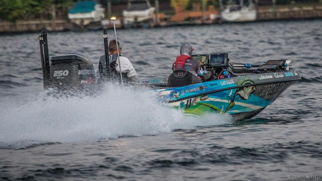 Lake norman day 1 coverage flw fishing articles for Lake norman bass fishing