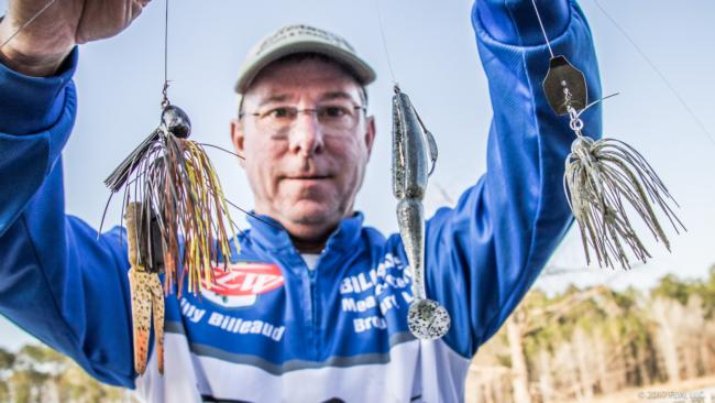 Slow-rolling a vibrating jig over shallow grass led Billy Billeaud to a ninth-place finish.