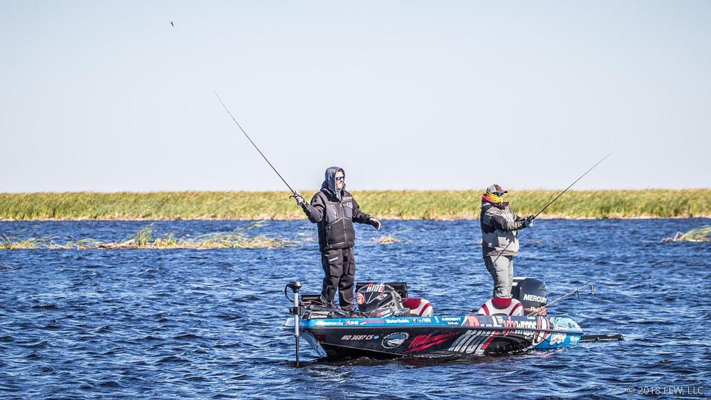 Lake okeechobee top 5 patterns day 1 flw fishing articles for Lake bryan fishing